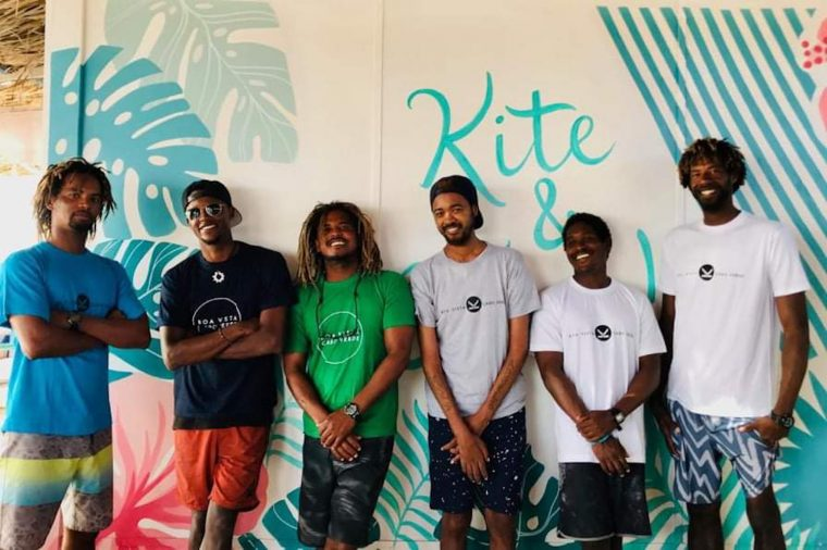 instructors at kitesurfing school kitekriol on Boa Vista cape verde