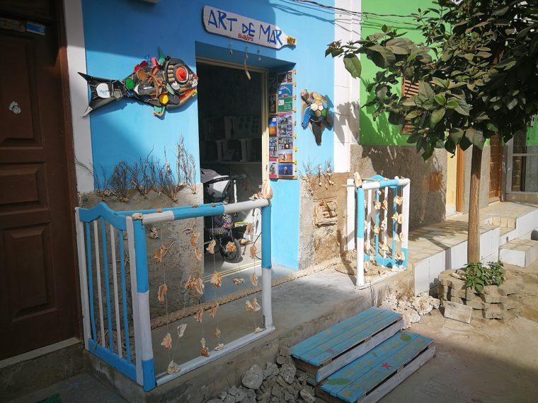 Souvenir shop from Eurico at Boa Vista Cape Verde
