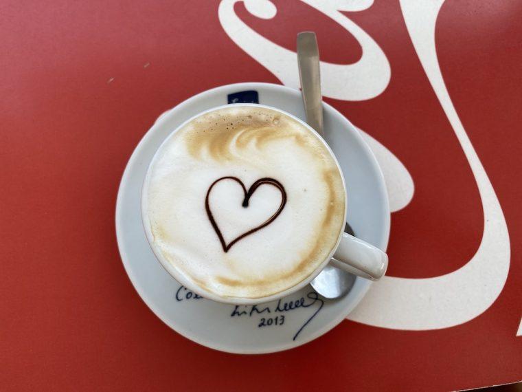 Cappuccino at catchupa bar on boa vista cape verde